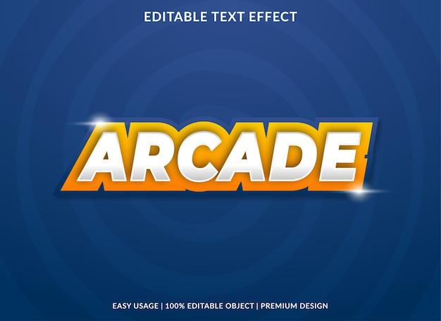 Conception de modèle d'effet de texte arcade avec style abstrait