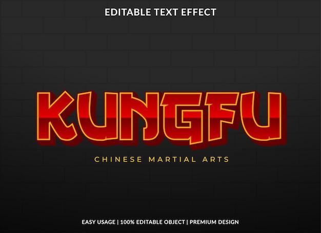 Conception de modèle d'effet de texte kungfu