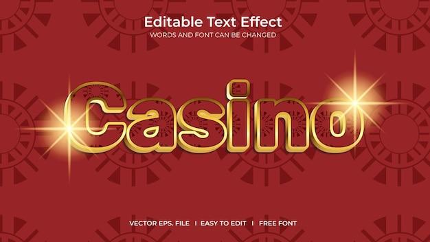 Conception de modèle d'effet de texte modifiable illustrateur de casino