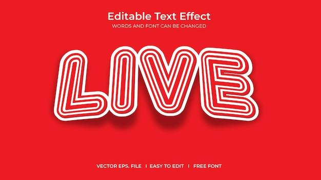 Conception de modèle d'effet de texte modifiable d'illustrateur en direct