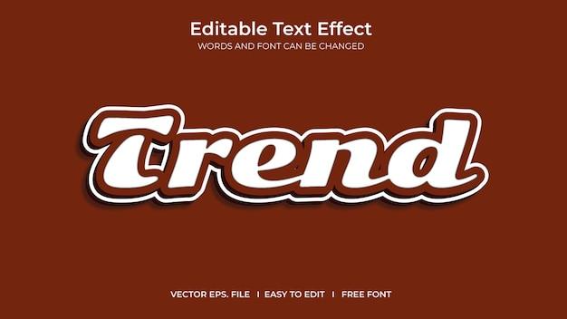 Conception de modèle d'effet de texte modifiable illustrateur de tendance