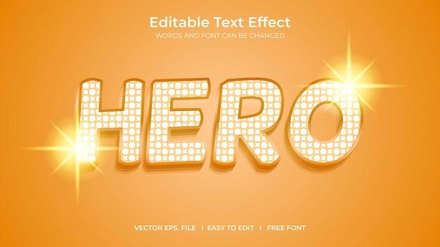 Conception de modèle d'effet de texte modifiable par l'illustrateur de héros