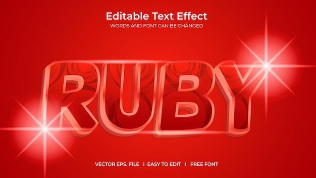 Conception de modèle d'effet de texte modifiable par l'illustrateur ruby