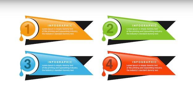 Conception de modèle d'entreprise infographique avec des éléments de cercle connectés