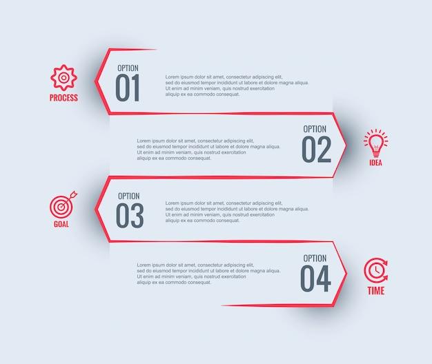Conception de modèle d'entreprise infographique