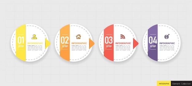 Conception de modèle d'entreprise infographique.