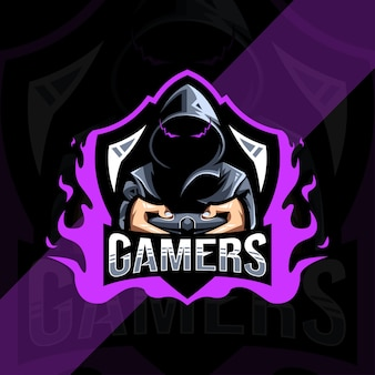 Conception de modèle esport logo mascotte gamers