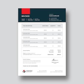 Conception de modèle de facture a4