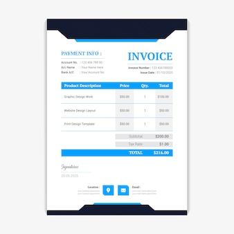 Conception de modèle de facture facture créative