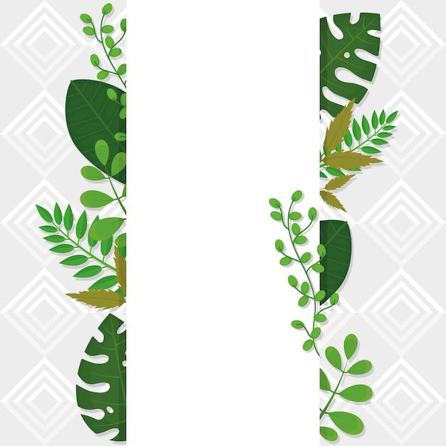 Conception de modèle de feuilles tropicales décoratives