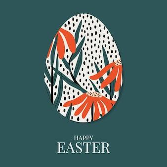 Conception de modèle floral joyeux jour de pâques