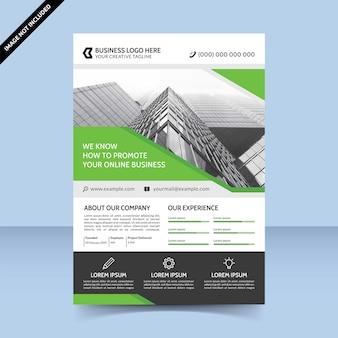 Conception de modèle de flyer d'agence de promotion commerciale en ligne
