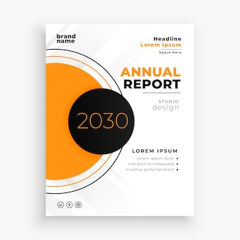 Conception de modèle de flyer brochure rapport annuel abstrait