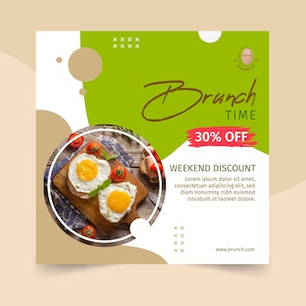 Conception de modèle de flyer brunch
