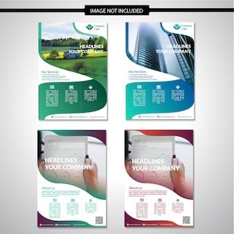 Conception de modèle de flyer créatif moderne en vecteur