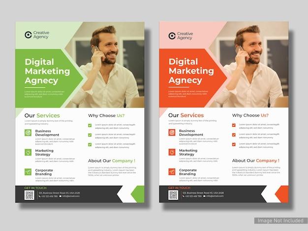 Conception de modèle de flyer d'entreprise d'agence de marketing numérique