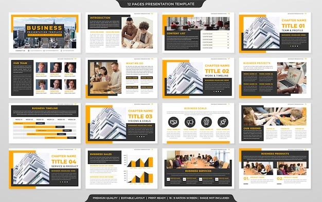 Conception de modèle de flyer entreprise avec concept de mise en page abstrait
