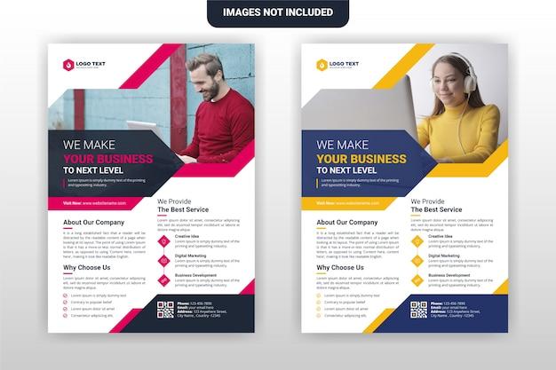 Conception de modèle de flyer d'entreprise et d'entreprise créative