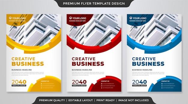 Conception de modèle de flyer entreprise avec un style moderne et minimaliste