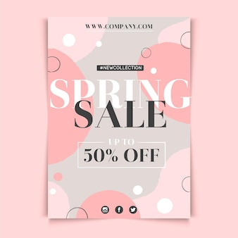 Conception de modèle de flyer de vente de printemps