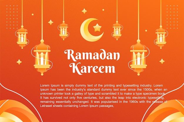 Conception de modèle de fond et de bannière de thème ramadhan kareem