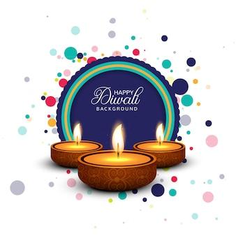 Conception de modèle de fond de carte de festival de diwali