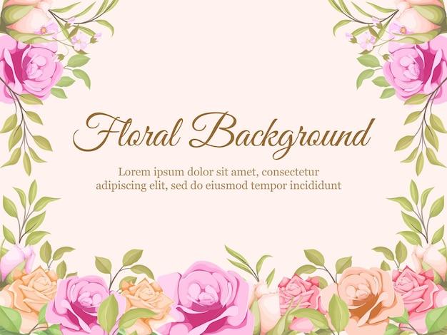 Conception de modèle de fond floral