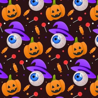 Conception de modèle d'halloween dégradé