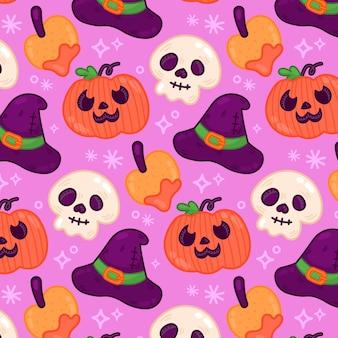 Conception de modèle d'halloween dessiné à la main
