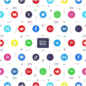 Conception de modèle d'icônes de médias sociaux