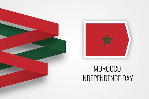 Conception de modèle d'illustration de fête de l'indépendance du maroc