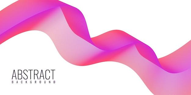 Conception de modèle d'illustration de fond dynamique fluide abstrait