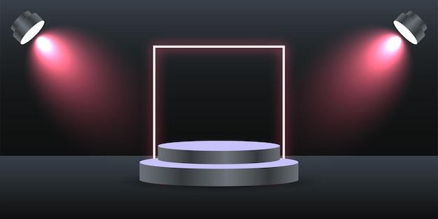 Conception de modèle d'illustration de fond de podium