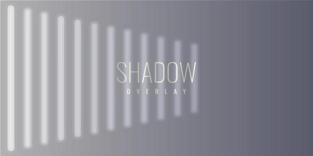 Conception de modèle d'illustration de fond de superposition d'ombre de fenêtre