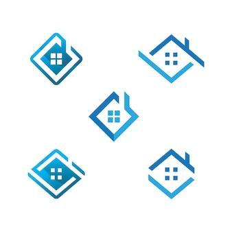 Conception de modèle immobilier maison logo icône vecteur