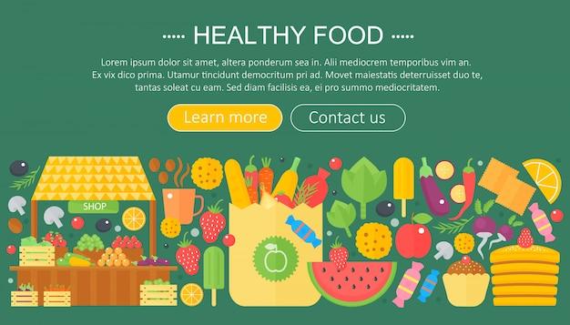 Conception de modèle d'infographie des aliments sains