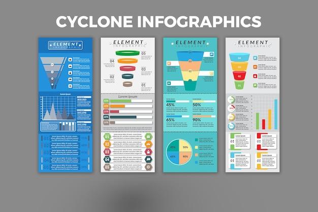 Conception de modèle d'infographie cyclone