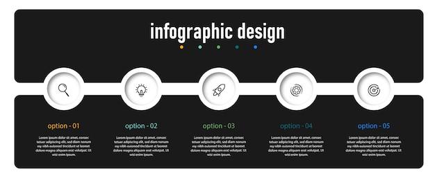 Conception de modèle d'infographie de diagramme circulaire