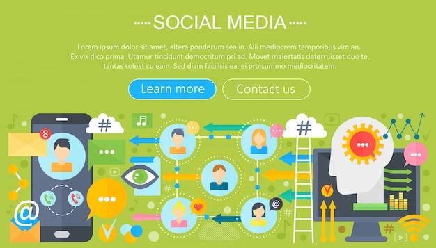 Conception de modèle d'infographie de médias sociaux