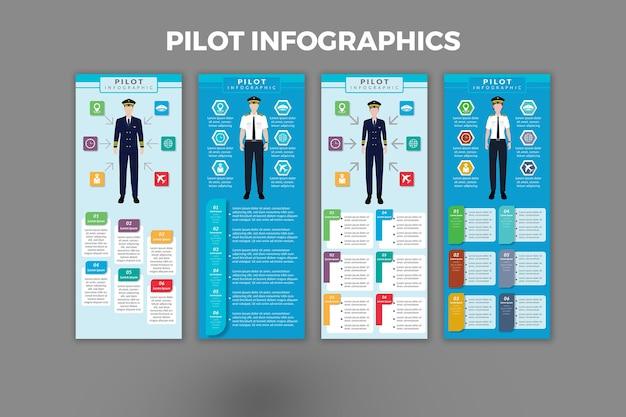 Conception de modèle d'infographie pilote