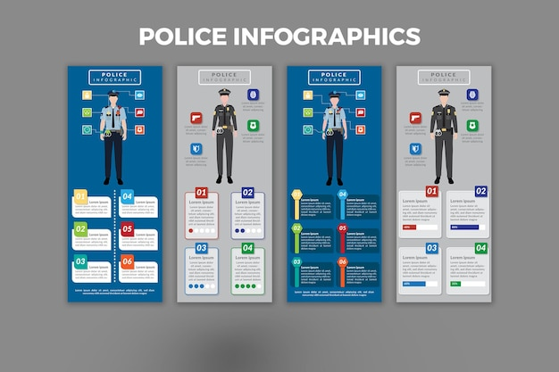 Conception de modèle d'infographie de police