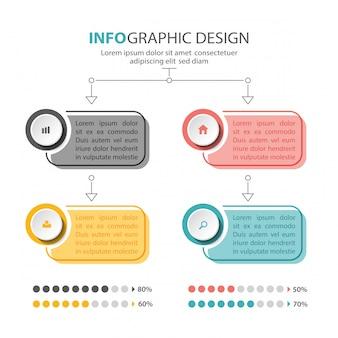 Conception de modèle d'infographie. présentation d'affaires
