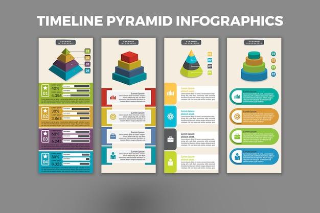 Conception de modèle d'infographie pyramidale