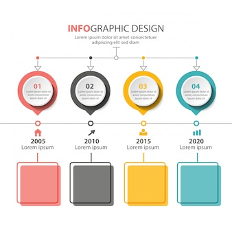 Conception de modèle d'infographie