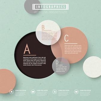 Conception de modèle infographique coloré avec des éléments de cercle