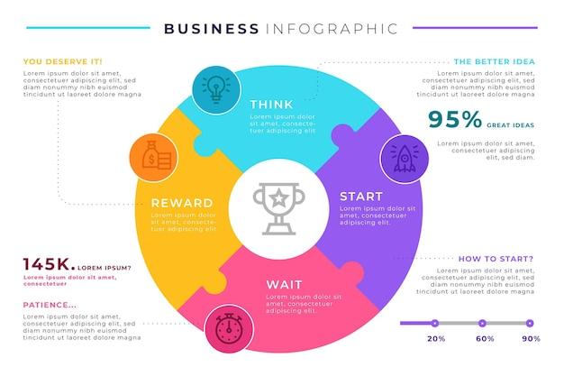 Conception de modèle infographique d'entreprise