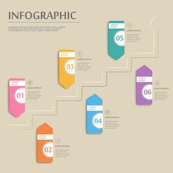 Conception de modèle infographique de simplicité avec options de bannière