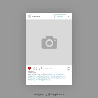 Conception de modèle instagram