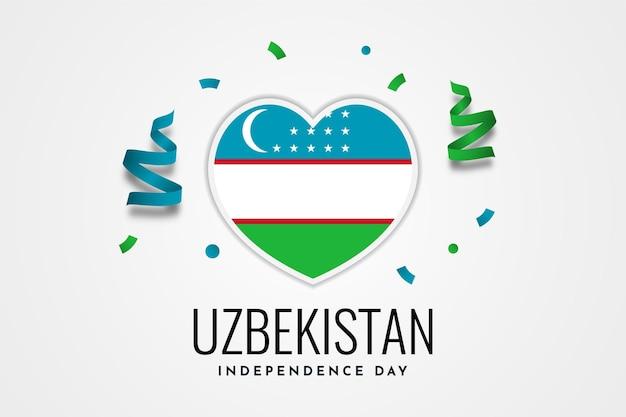 Conception de modèle de joyeux jour de l'indépendance de l'ouzbékistan