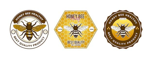 Conception de modèle de logo d'abeille